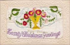 Hearty Christmas Greetings , Hand - Sewn Postcard , 1910s Item# SCVIEW427395 (274820122)