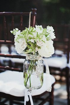 could this work in the church? I don't know. Love the geranium leaves though! #wedding flowers