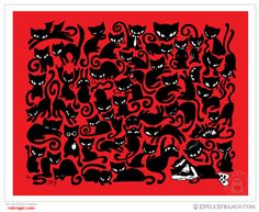Cat Nap 11x14 Emily The Strange Art Print by Rob Reger