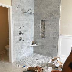 Captivant US Regional Floors On Instagram: U201cBack At This Job Site For That Corner  Wedge In The Shower #tile #tilework #tilebacksplash #tiledesign #tiles  #tileshower ...
