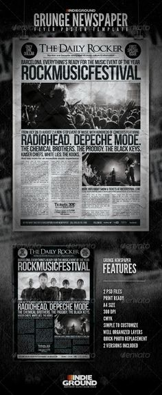 Grunge Newspaper Flyer/Poster