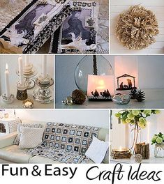 art and craft project ideas from http://www.songbirdblog.com