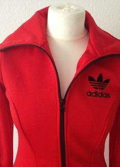 Kaufe meinen Artikel bei #Kleiderkreisel http://www.kleiderkreisel.de/damenmode/halblange-mantel/134853410-adidas-retromantel-auch-als-kleid-zu-tragen-rot-schwarz-70s
