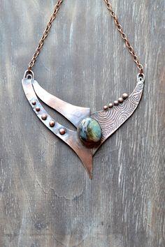 Copper bib necklace