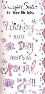 Happy Birthday wonderful Sister - pink