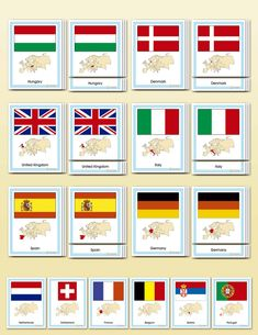 Flags of Europe | Montessori Research & Development...