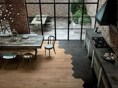 Sage green: Scandinavian style inspiration Source by Tile To Wood Transition, Transition Flooring, Style At Home, Floor Design, House Design, Home Interior Design, Interior Decorating, String Lights Outdoor, Modern Kitchen Design