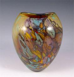 PETER LAYTON ART GLASS VASE