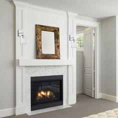 Fireplace Tile Surround, Shiplap Fireplace, White Fireplace, Fireplace Remodel, Fireplace Surrounds, Fireplace Design, Fireplace Mantels, Fireplace Ideas, Fireplaces