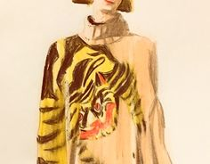 """Check out new work on my @Behance portfolio: """"Tiger h&m sweater"""" http://be.net/gallery/44652753/Tiger-h-m-sweater"""