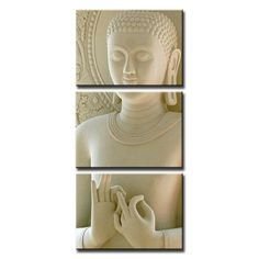 3 Piece Buddha on Canvas - Marble Effect    https://zenyogahub.com/collections/meditation-collection/products/3-piece-buddha-painting-marble