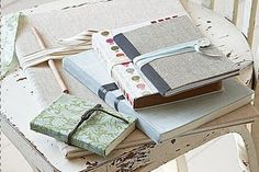 Fabric Covered Notebooks #DIY