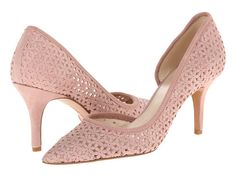 Nine West Kreamer. d'Orsay pink suede. Looks like the Marc Jacobs Daisy. Nice understated pump.
