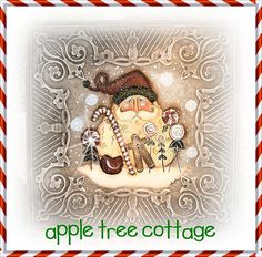 Love Martha's Creations at Appletree Cottage on Etsy! Whimsical Christmas, Very Merry Christmas, Christmas Paper, Christmas Trees, Christmas Holidays, Christmas Crafts, Christmas Decorations, Santa Paintings, Christmas Paintings