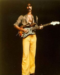 Was he a man or was he a muffin? Frank Zappa, the best jazz-rock fusion guitarist, with a wicked wit!