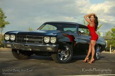 1970 Chevrolet Chevelle Pro Touring Girl Click to Find out more - http://fastmusclecar.com/car-girls/1970-chevrolet-chevelle-pro-touring-girl/ COMMENT.