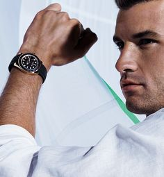 Wearing the Rolex Oyster Perpetual Yacht-Master 40, Rolex Testimonee Grigor Dimitrov is a leading contender at the highest level of his sport.