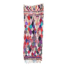 Geometric Moroccan Boucherouite Rag Rug - $600 Est. Retail - $500 on Chairish.com