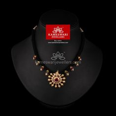 Carisia CZ Pa ochi of Black Threading Gold Mangalsutra Designs, Gold Earrings Designs, Necklace Designs, Gold Chain Design, Gold Jewellery Design, Beaded Jewelry, Silver Jewelry, Indian Jewelry, Silver Earrings