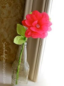 Sarahndipities ~ fortunate handmade finds: Things to Make: Tissue Paper Flowers
