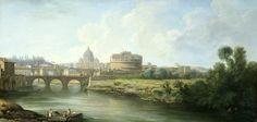 Pierre Antoine Demachy (attributed to) – Rjksmuseum. Gezicht op de Engelenburcht te Rome (c.1750-1800)