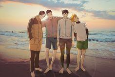 Kagehina, Kenma, Tsukkiyama, Akaashi Keiji, Anime Characters, Fictional Characters, Cool Cartoons, Haikyuu Anime, Hinata