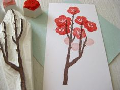 tree hand carved stamp