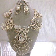 Wedding Jewelry Set 18k Real Gold NJ-602 Beauty Paradise Rihood ...