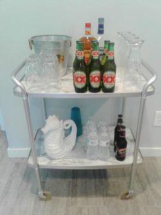 Crazy DIY Mom | DIY bar cart makeover