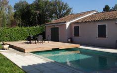 Terrasse coulissante pour piscine : gagnez en espace ! #couverture #piscine #coulissant