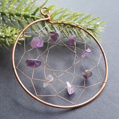 #ThrowBackThursday to this amethyst & copper dreamcatcher. I love dreamcatchers but making them wasn't my jam. You live and you learn! Copper Wire Art, Moon Jewelry, Handmade Wire, Wire Wrapped Jewelry, Types Of Fashion Styles, Wire Wrapping, Dream Catcher, Amethyst, Life Hacks