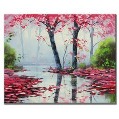 ÁRBOLES pintura árboles aceite Original paisaje paisaje impresionista de arte por Graham gercken MN$2,944.66