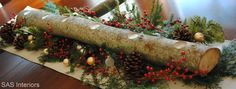Fabulous holiday decor made from logs!