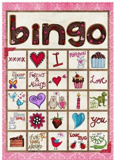 Cute, Printable (And Free) Valentine& Day Bingo Cards for All Ages: Valentine Bingo Game from Simply Fresh Designs Valentine Bingo, Valentines Games, Valentines Day Party, Valentine Day Crafts, Printable Valentine, Valentine Ideas, Free Printable, Valentine's Day Party Games, Bingo For Kids