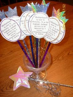 royal scepter have cut out with memory verse/main point written on it for the children to decorate and attach to the stick/sceptor