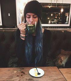 Lauren Cimorelli Cimorelli Family, Cimorelli Sisters, Lauren Cimorelli, My Escape, Girls Club, Woman Crush, Pretty Cool, Blue Hair, Crushes