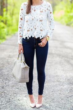 lace top with leggings