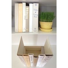 Tired of looking at routers and plugs? Use old book spines to make a hidden compartment #HomeHacks from #Magtek