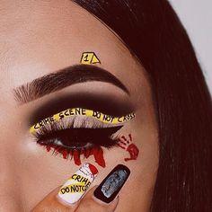 In We Heart It … - Makeup Looks Dramatic Edgy Makeup, Makeup Eye Looks, Eye Makeup Art, Crazy Makeup, Eyeshadow Makeup, Disney Eye Makeup, Fun Makeup, Asian Makeup, Lila Make-up