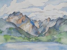 Lake Te Anau in New Zealand  The Milford Track by BlueOtterArt