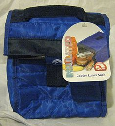 Bright blue Igloo Stowe 6 can lunch sack. This sack will come in handy when you pack a lunch for work or play. It folds flat for easy storage and has a leak resistant, antimicrobial liner.
