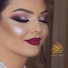 Pin on Makeup Glitter Eye Makeup, Pink Makeup, Eyeshadow Makeup, Face Makeup, Makeup Looks For Brown Eyes, Special Makeup, Heavy Makeup, Indian Bridal Makeup, Wedding Makeup Looks