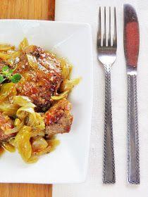 sio-smutki! Monika od kuchni: Karkówka duszona z cebulą Spaghetti, Beef, Ethnic Recipes, Food, Meat, Essen, Meals, Yemek, Noodle