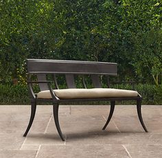 Klismos Bench - contemporary - outdoor stools and benches - by Restoration Hardware