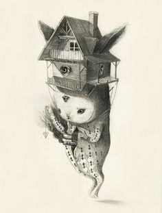 O conto de fadas macabro nas ilustrações de Roby Dwi Antono