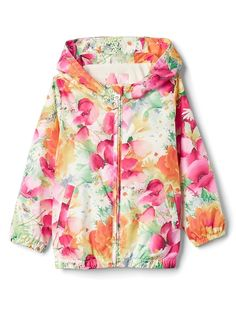 Gap Baby Print Jersey-Lined Windbuster Maui Rose Floral Baby Gap Girl bccedd9dd5d3