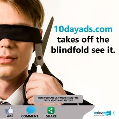 10dayads.com takes off the blindfold see it. ‪#‎Blind‬ ‪#‎Help‬