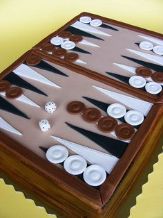 backgammon cake