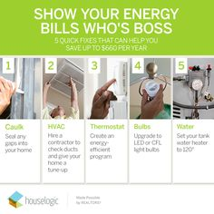 In order to see a difference in your home's energy bill, implement these 5 energy-efficient (and inexpensive) to-dos.