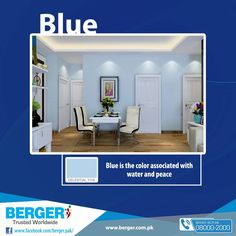 #Berger #BergerPaintPakistan #BergerPaint #Color #Paint #Decor #Blue #HomeDecor